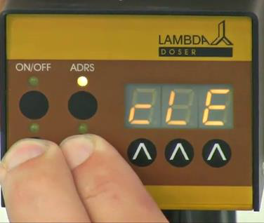 "Continuous pressing of Remote and Run button even after the indication of ""PGM"" ends up with the ""cLE"" indication."
