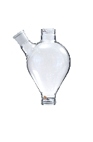 Glass vessel with side arm approximately 1L